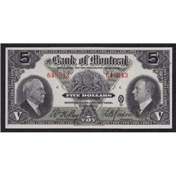 Bank of Montreal $5, 1935