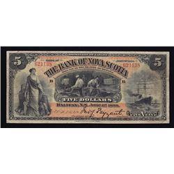 Bank of Nova Scotia $5, 1898