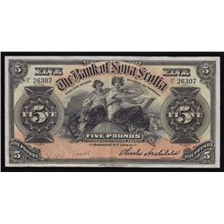 Kingston, Jamaica Issue - Bank of Nova Scotia 5 Pounds, 1920