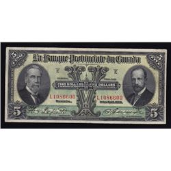 Banque Provincial du Canada $5, 1928