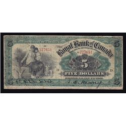 Royal Bank of Canada $5, 1901
