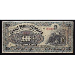 Royal Bank of Canada $10, 1901