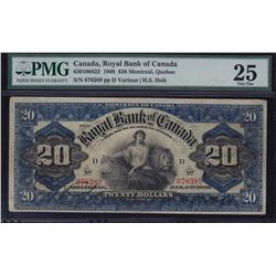 Royal Bank of Canada $20, 1909