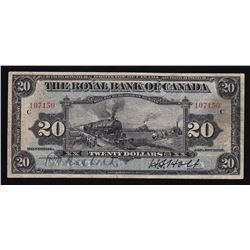 Royal Bank of Canada $20, 1913