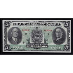 Royal Bank of Canada $5, 1933