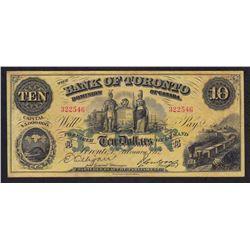 Bank of Toronto $10, 1912