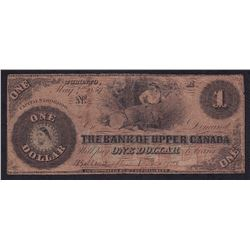 Bank of Upper Canada $1, 1859 - Altered