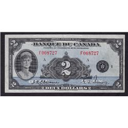 Bank of Canada $2, 1935 - French