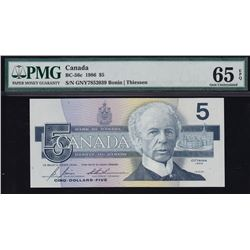 Bank of Canada $5, 1986