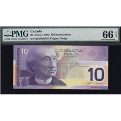 Bank of Canada $10, 2002 Replacement