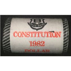 Original Mint Roll 1982 Constitution Dollars. RCM Wrapped