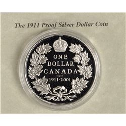 1911 Proof Silver Dollar 1911-2001 with C.O.A