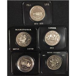 Cased Nickel Dollars - Lot of 5
