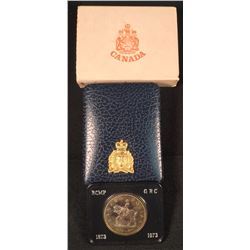 1973 RCMP Silver Dollar With Special Edition Embossed Case
