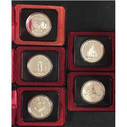 Canada Specimen Silver Dollar Coins - Lot of 5