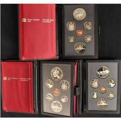 Canada Prestige Double Dollar Mint Coin Sets - Lot of 3
