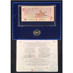 1996 $2 Proof Coin and BRX Replacement Note Set