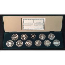 1988 Canadian Olympic $20 Silver Set of Ten Coins