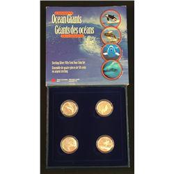 RCM - 4 Coin Set 925 Silver 50 Cent Coins 1998 Ocean Giants'