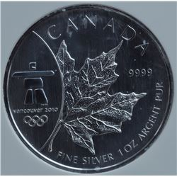 2008 Vancouver Olympics Silver Maple Leaf First Strike