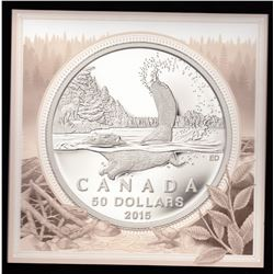 2015 $50 Beaver ($50 for $50 Series) Silver Coin