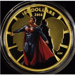 2016 RCM DC Comics $100 14k Gold 'Dawn of Justice' Deluxe Case