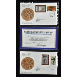 Official Olympic Commemorative Cover Silver Stamp Set