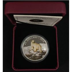2014 Iconic Polar Bear $20 Fine Silver Coin