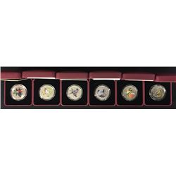 Coloured Birds of Canada 25-Cent Coins - Lot of Six