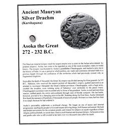 Ancient Mauryan Silver Drachm 272-232 B.C.