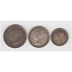 Great Britain Maundy 2,3 & 4 Pence Coins