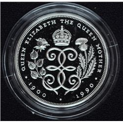 1990 Queen Mother 90th Birthday Silver Crown