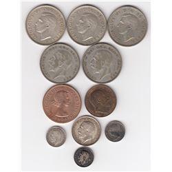 Great Britain - 11 British coins