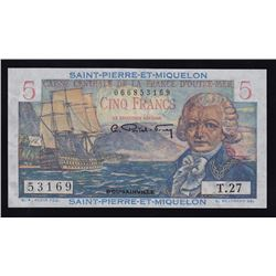 Saint-Pierre-et-Miquelon 5 Francs