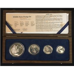 South Africa 4 Pc. Wildlife, 2003 - The Rhino Proof Set