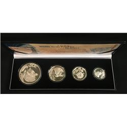 South Africa 4 Pc. Wildlife, 2004  - The Leopard Proof Set