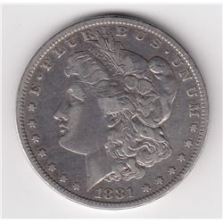 United States Silver Dollar, 1881 O