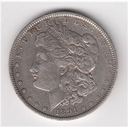 United States Silver Dollar, 1891 O