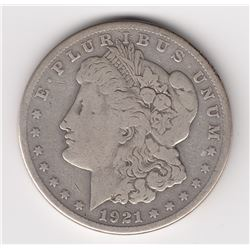 United States Silver Dollar, 1921 S