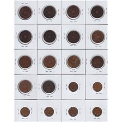 36 Miscellaneous Newfoundland Coins