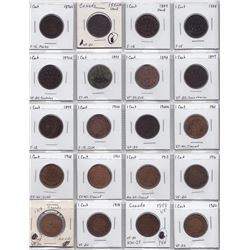 Canadian Large Cent Lot