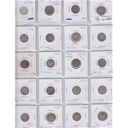 Lot of 20 Canadian Ten Cents