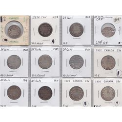 Canadian Silver Twenty Five Cent Lot