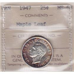 1947 Twenty Five Cents