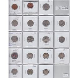 Lot of 18 Canadian Coins