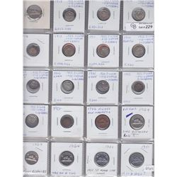 Lot of 60 Miscellaneous Canadian Coins