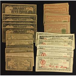 Lot of 110 Philippines WWII Emergency Money