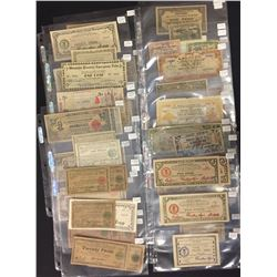 Lot of 64 Philippines WWII Emergency Money