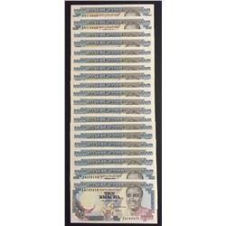 Lot of Twenty 1989 Bank of Zambia 10 Kwacha