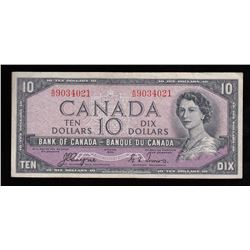 Bank of Canada $10 - Devil's Face, 1954